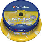 Verbatim DVD+RW 4,7GB 4x 25-pack Spindel