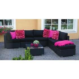 Mellby Garden Grupp Princess 65x65cm (inkl. 3st Hörn, 2st Mitt, Fotpall)
