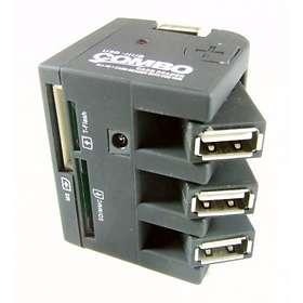 OCNZ USB 2.0 Multi-Card Reader with USB Hub
