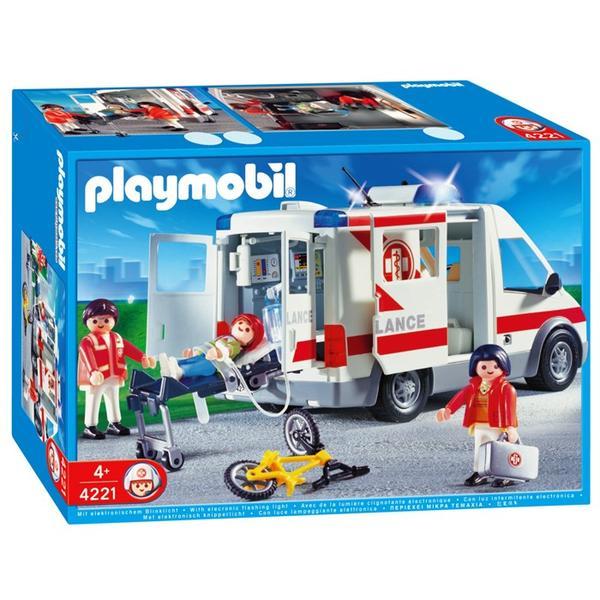 playmobil hospital 4221 ambulance price comparison find. Black Bedroom Furniture Sets. Home Design Ideas
