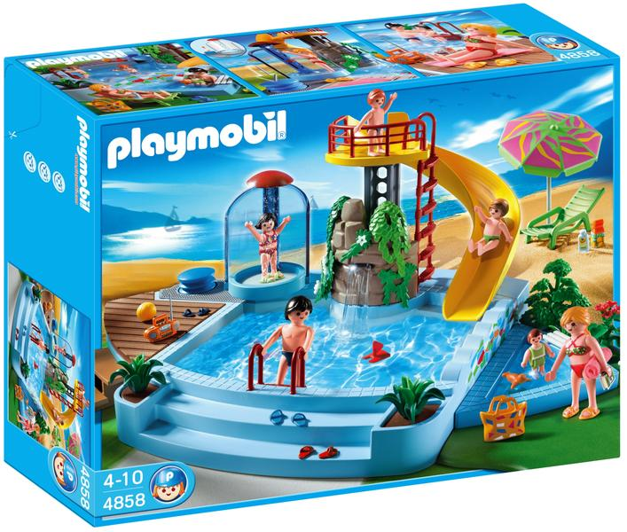 Playmobil Vacation 4858 Pool With Water Slide Playmobil Lowest Price Test And Reviews