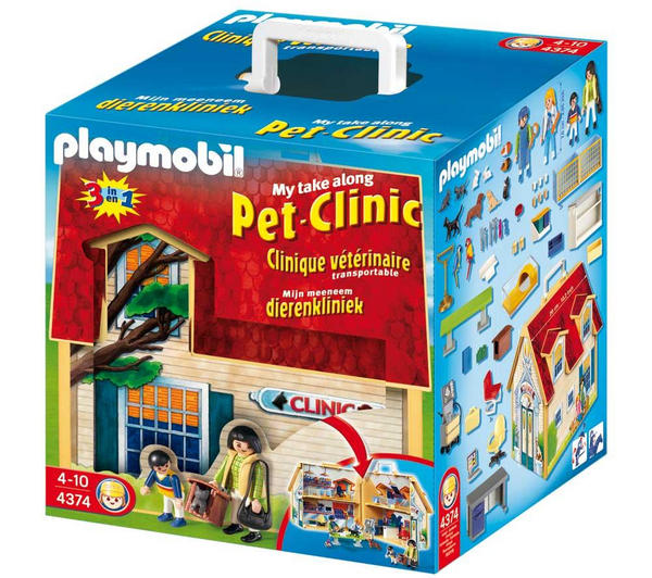 Playmobil animal clinic 4374 my take along pet clinic for Playmobil haus schlafzimmer