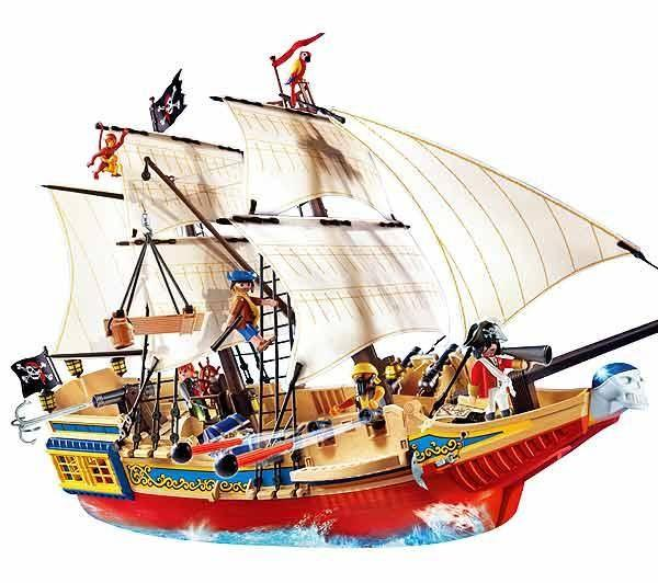 playmobil pirates 4290 large pirate ship price comparison find the best deals on pricespy. Black Bedroom Furniture Sets. Home Design Ideas