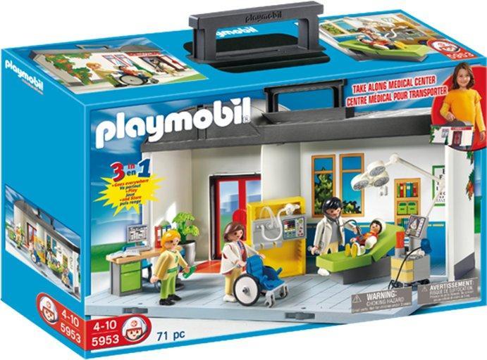 Playmobil hospital 5953 take along hospital price for Hospital de playmobil
