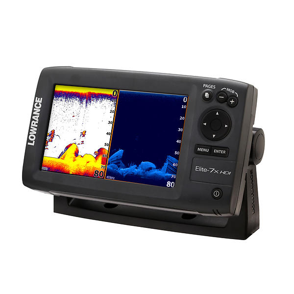 Lowrance elite 7x hdi fish finder marine gps lowest for Lowrance fish finder gps