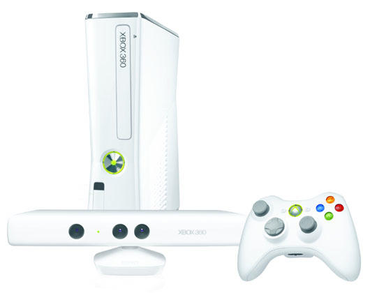 Microsoft Xbox 360 Slim 4gb Incl Kinect White Limited