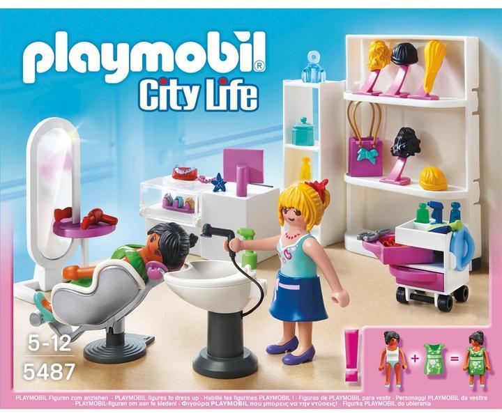 Playmobil city life 5487 shopping mall beauty salon price for Salon playmobil
