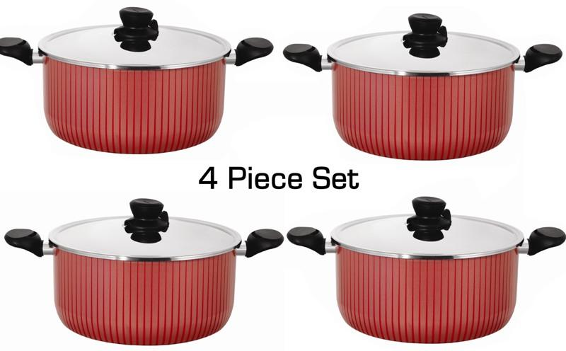 tefal tempo flame red pot set 4 pcs price comparison find the best deals on pricespy. Black Bedroom Furniture Sets. Home Design Ideas