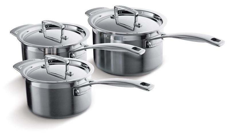le creuset 3 ply pot set 3 pcs price comparison find the best deals on pricespy