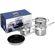 le creuset 3 ply pot set 4 pcs price comparison find the best deals on pricespy