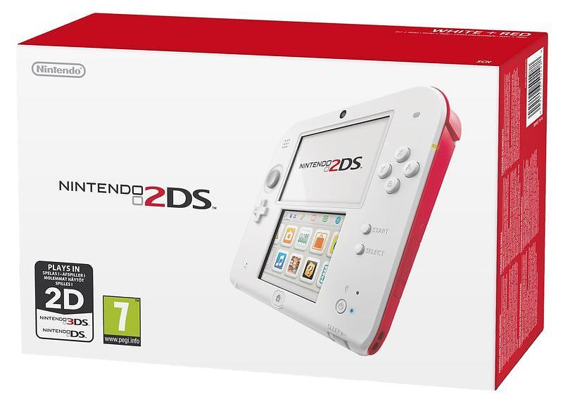 Nintendo 2DS. A sturdy little handheld that lets kids just play! It's small, light, and durable—a perfect fit for beginning gamers. It's also a perfect bargain at a low price.