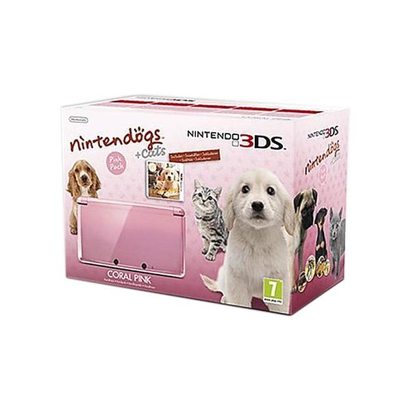 Nintendo 3DS (incl. Nintendogs + Cats) - Coral Pink
