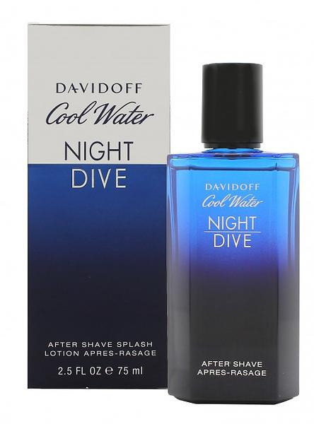 Davidoff cool water night dive after shave splash 75ml - Davidoff night dive ...