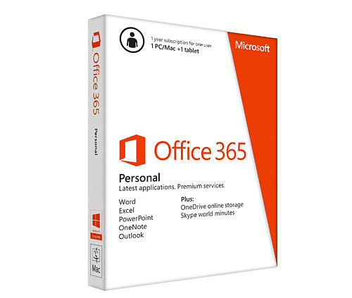 microsoft office 365 personal eng price comparison find the best deals on pricespy. Black Bedroom Furniture Sets. Home Design Ideas