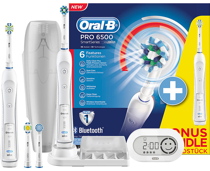oral b braun triumph 6500 crossaction duo price comparison find the best deals on pricespy. Black Bedroom Furniture Sets. Home Design Ideas